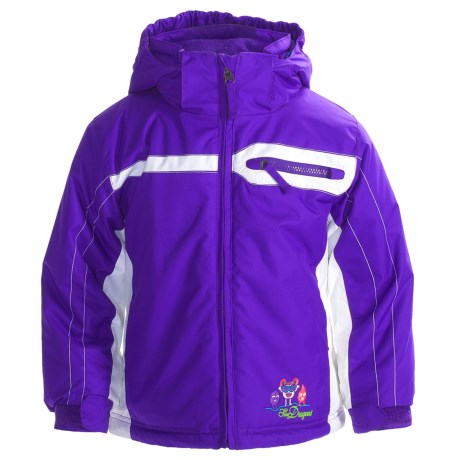 Snow Dragons Split Jacket - Insulated (For Little Girls)