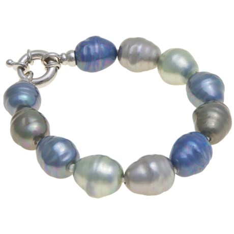 """Joia de Majorca Barrel Baroque Bracelet - 8"""", Organic Pearls"""