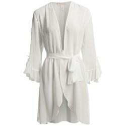 Oscar De La Renta Pink Label Whimsical Chiffon Wrap Robe (For Women)