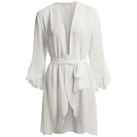 Oscar De La Renta Pink Label Whimsical Chiffon Wrap Robe (For Women)