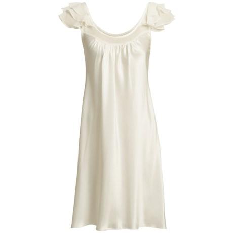 Oscar de la Renta Pink Label Romantic Dreams Nightgown - Short Sleeve