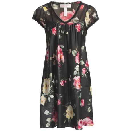 Oscar de la Renta Pink Label Flamenco Nights Nightgown - Puff Short Sleeve (For Women)