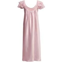 Oscar de la Renta Pink Label Romantic Dreams Nightgown - Short Sleeve (For Plus Size Women)