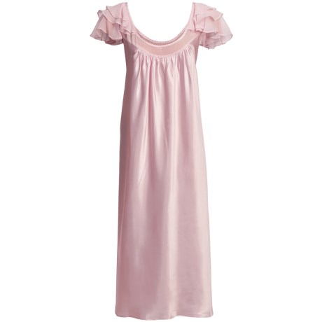 Oscar de la Renta Pink Label Romantic Dreams Nightgown - Short Sleeve (For Plus Size Women)