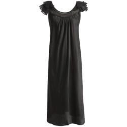 Oscar de la Renta Pink Label Romantic Dreams Nightgown - Short Sleeve (For Women)