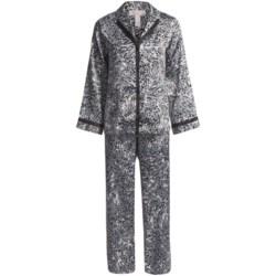 Oscar de la Renta Pink Label Zahara Nights Pajamas - Long Sleeve (For Women)