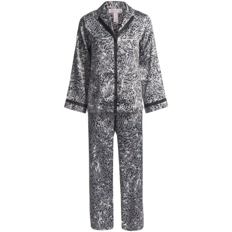 Oscar de la Renta Pink Label Zahara Nights Pajamas - Long Sleeve (For Women)