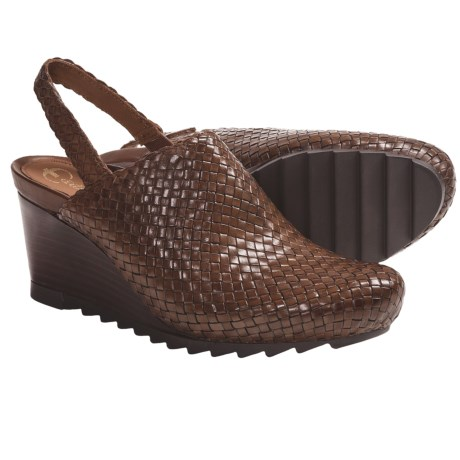 Earthies Katina Clogs - Woven Leather (For Women)