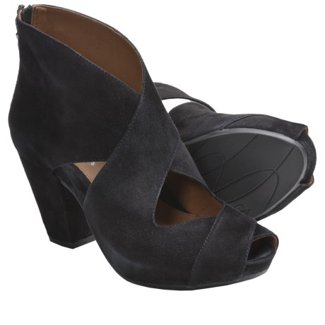 Earthies Cristiana Open Pumps - Suede (For Women)