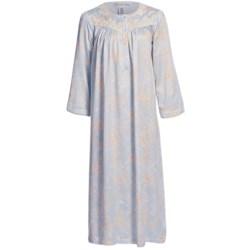 Oscar de la Renta Porcelain Rose Nightgown - Brushed-Back Satin (For Women)