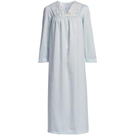 Oscar de la Renta Soft Slumber Nightgown - Brushed-Back Satin (For Women)
