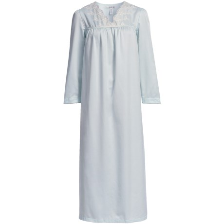 Oscar de la Renta Soft Slumber Nightgown - Brushed-Back Satin (For Women)