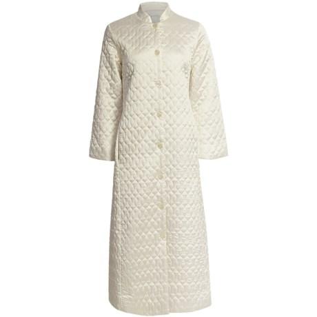 Oscar de la Renta Quilted Elegance Robe - Satin (For Women)