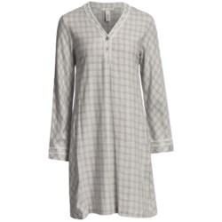 Oscar de la Renta Modern Comfort Flannel Night Shirt (For Plus Size Women)