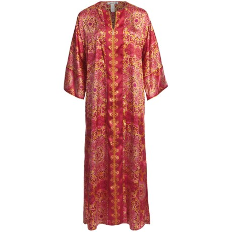 Oscar de la Renta Kaleidoscope Dreams Satin Caftan (For Women)