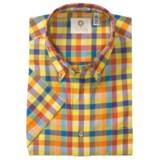 Viyella Cotton Check Sport Shirt - Button-Down, Short Sleeve (For Men)