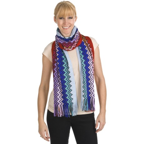 "Missoni Zigzag Scarf - Wool Blend, 14x76"" (For Women)"