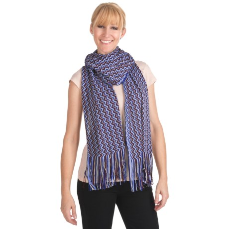 "Missoni Zigzag Scarf - Wool Blend, 16x80"" (For Women)"