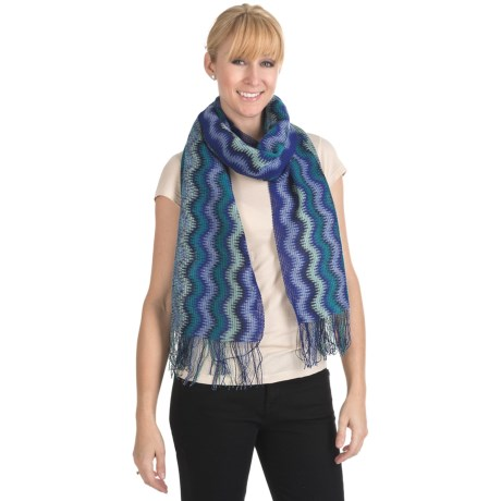 "Missoni Zigzag Sparkle Scarf - 17x72"" (For Women)"