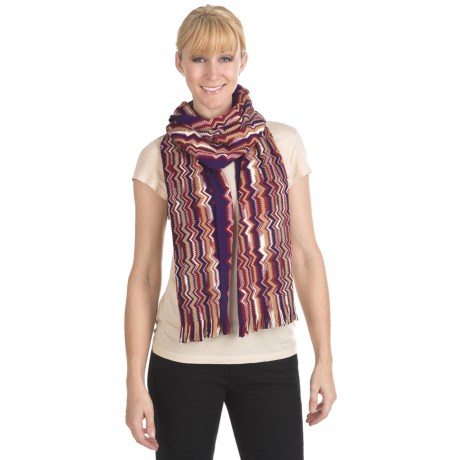 "Missoni Zigzag Scarf - Wool, 13x74"" (For Women)"