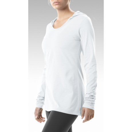 Lucy Island Hoodie Shirt - Stretch Pima Cotton, Long Sleeve (For Women)