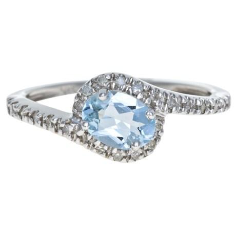 Millennium Creations Aquamarine Marquis Ring - 14K White Gold