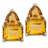 Millennium Creations Citrine Trillion Earrings - 14K Gold