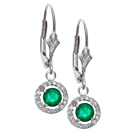 Millennium Creations Marquis Earrings - 14K White Gold