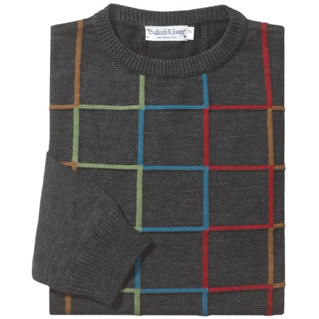 Bullock & Jones Intarsia Grid Sweater - Wool Blend (For Men)