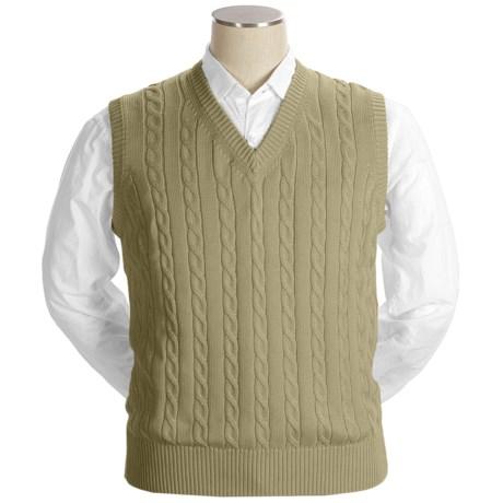 Bullock & Jones Cotton Cable-Knit Vest (For Men)