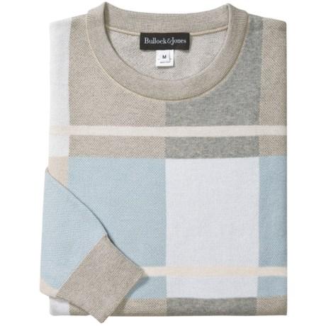 Bullock & Jones Pima Cotton Color-Block Sweater (For Men)