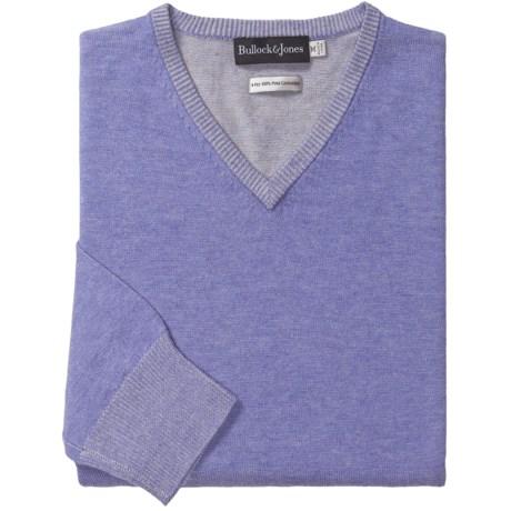 Bullock & Jones Plated Cashmere Sweater - V-Neck (For Men)
