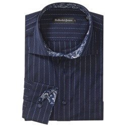 Bullock & Jones Cotton Shirt - Contrast Collar & Cuff, Long Sleeve (For Men)