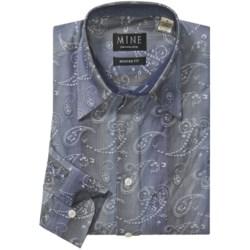 Mine Cotton Paisley Shirt - Euro Cut, Long Sleeve (For Men)