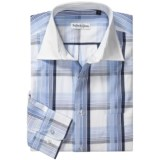 Bullock & Jones Cotton Windowpane Shirt - Long Sleeve (For Men)