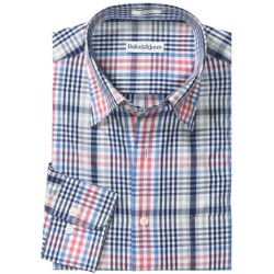 Bullock & Jones Cotton Plaid Shirt - Hidden Button Down, Long Sleeve (For Men)