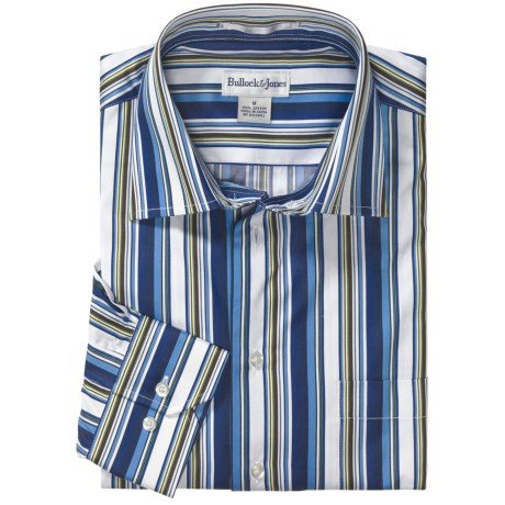 Bullock & Jones Modern Bar Stripe Shirt - Long Sleeve (For Men)