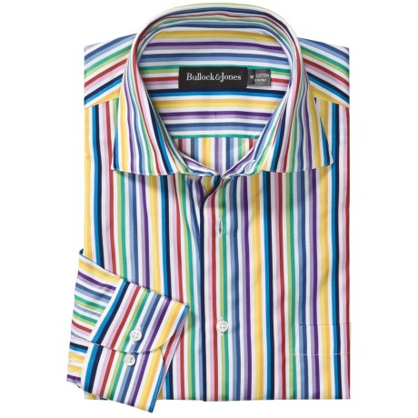 Bullock & Jones Rainbow Stripe Shirt - Long Sleeve (For Men)
