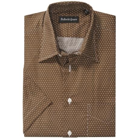 Bullock & Jones Mini-Dot Sport Shirt - Short Sleeve (For Men)