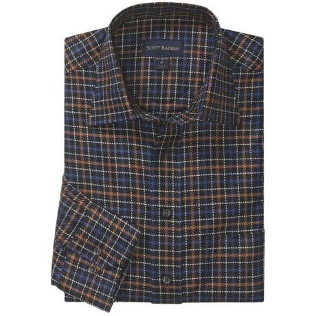 Scott Barber Hadley Twill Check Sport Shirt - Long Sleeve (For Men)