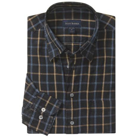 Scott Barber Delave Linen Fancy Sport Shirt - Long Sleeve (For Men)