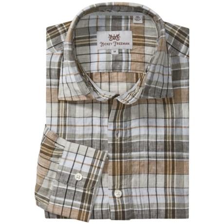 Hickey Freeman Marsino Sport Shirt - Linen, Long Sleeve (For Men)