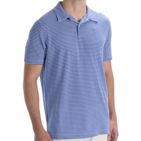Agave Denim Striped Polo Shirt - Short Sleeve (For Men)
