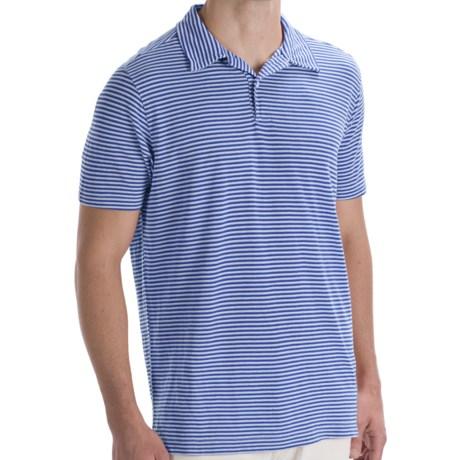 Agave Denim Striped Polo Shirt - Short Sleeve (For Men)