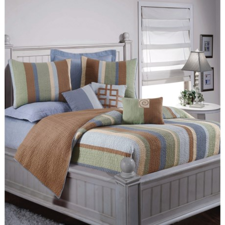 C & F Enterprises Collin Stripe Reversible Quilt - Full-Queen