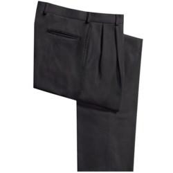 Bullock & Jones Wool Gabardine Pants - Double Reverse Pleats (For Men)