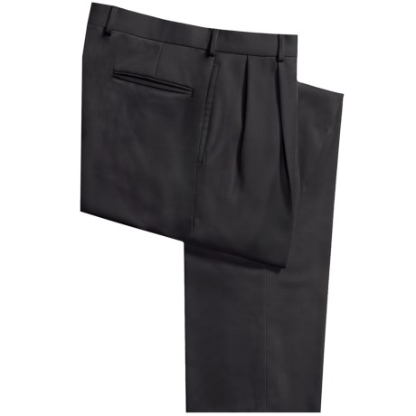 Bullock & Jones Wool Gabardine Pants - Double Reverse Pleats (For Men)