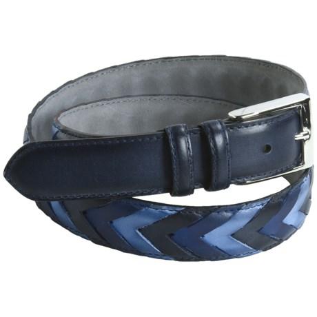 Bullock & Jones Chevron Leather Belt (For Men)