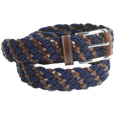 Bullock & Jones Woven Leather Belt - Stretch (For Men)