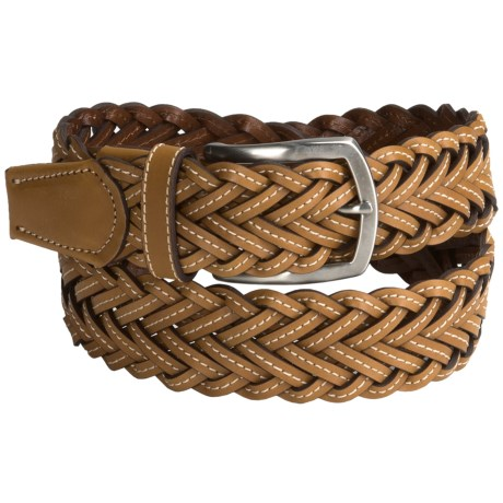 Bullock & Jones Woven Leather Belt (For Men)